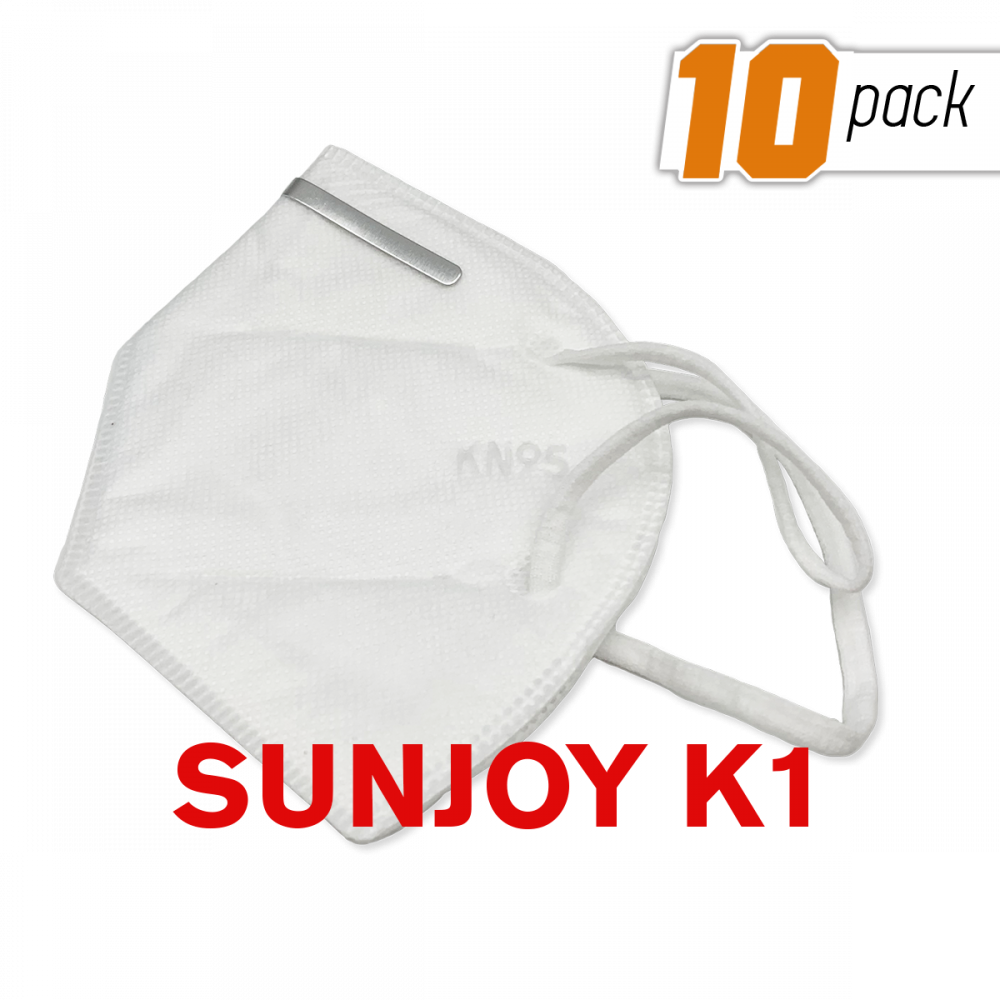 SunJoy KN95 Face Mask Respirator Anti Pollution/Virus FFP2 PM2.5 (10 Pack)
