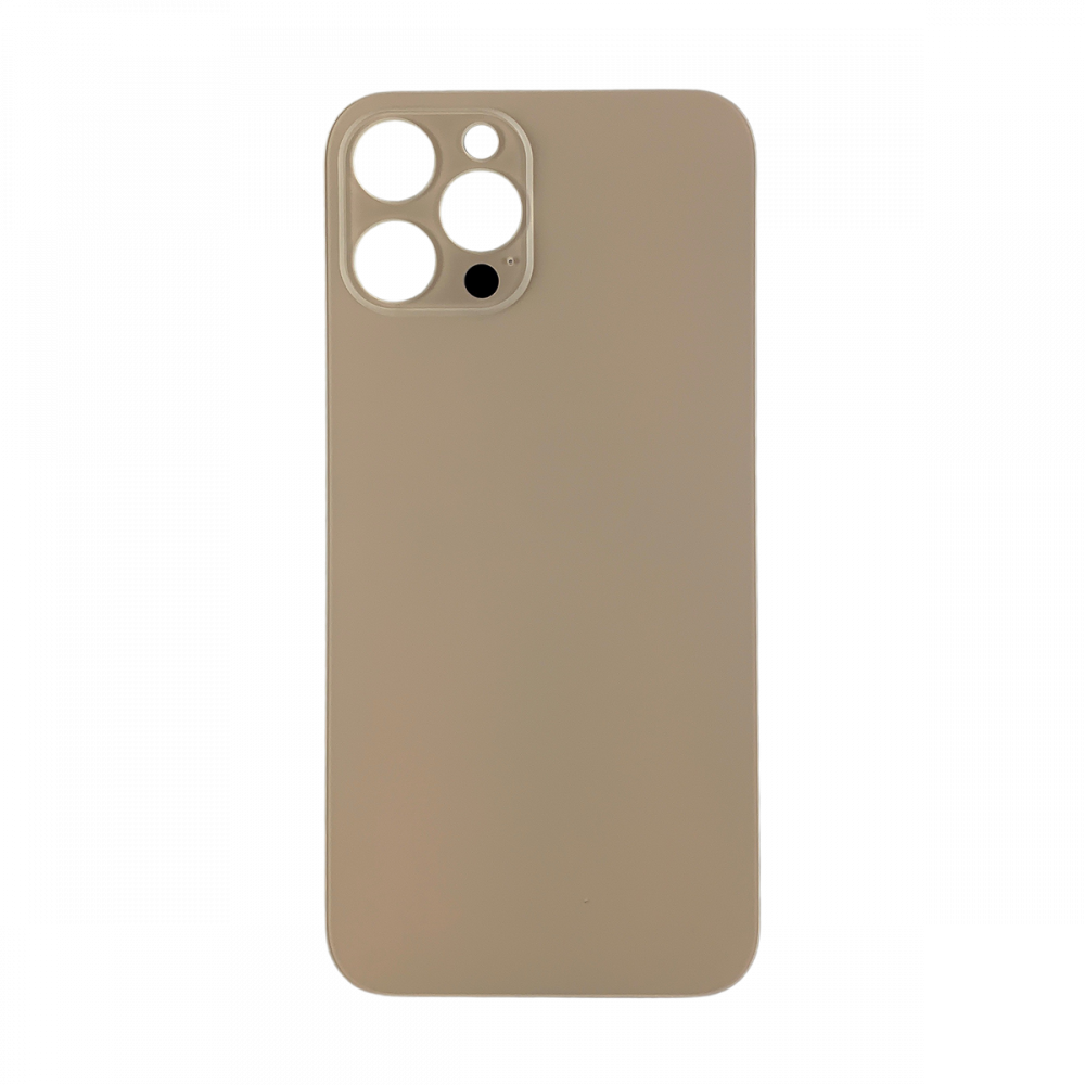 iPhone 12 Pro Max Back Glass with Large Camera Hole - No Logo - Gold