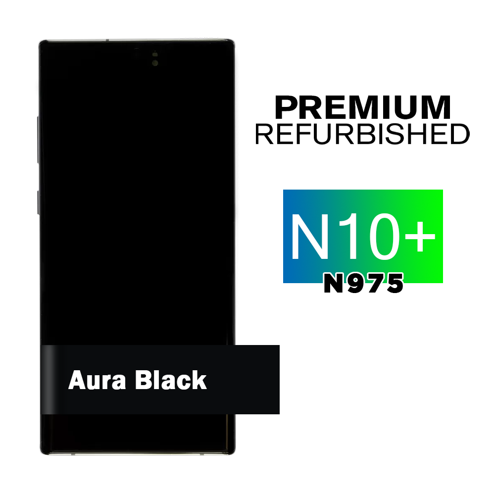 Samsung Galaxy Note 10+ Black Frame Screen Assembly