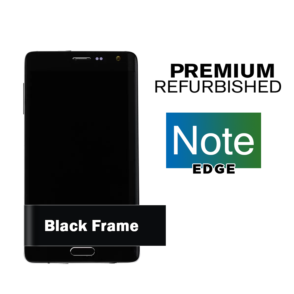 Samsung Galaxy Note Black Edge Display Assembly with Frame