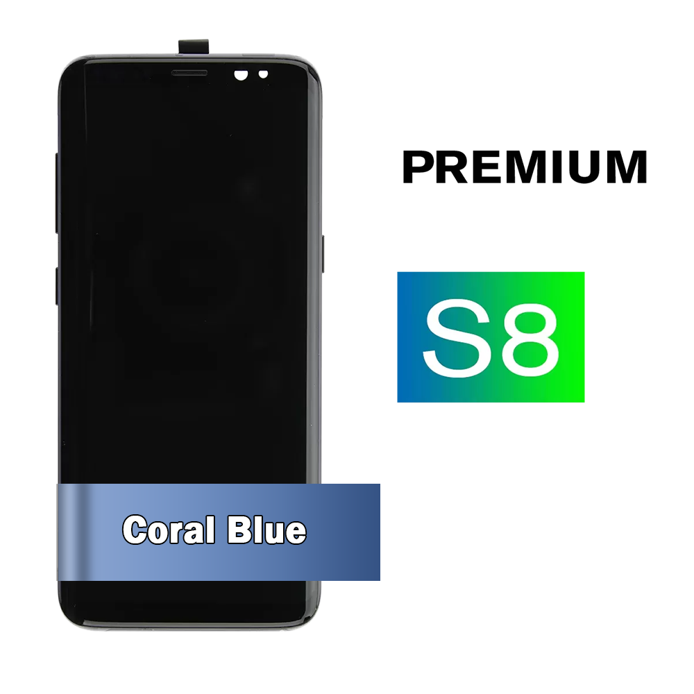 Samsung Galaxy S8 Screen Assembly with Coral Blue Frame