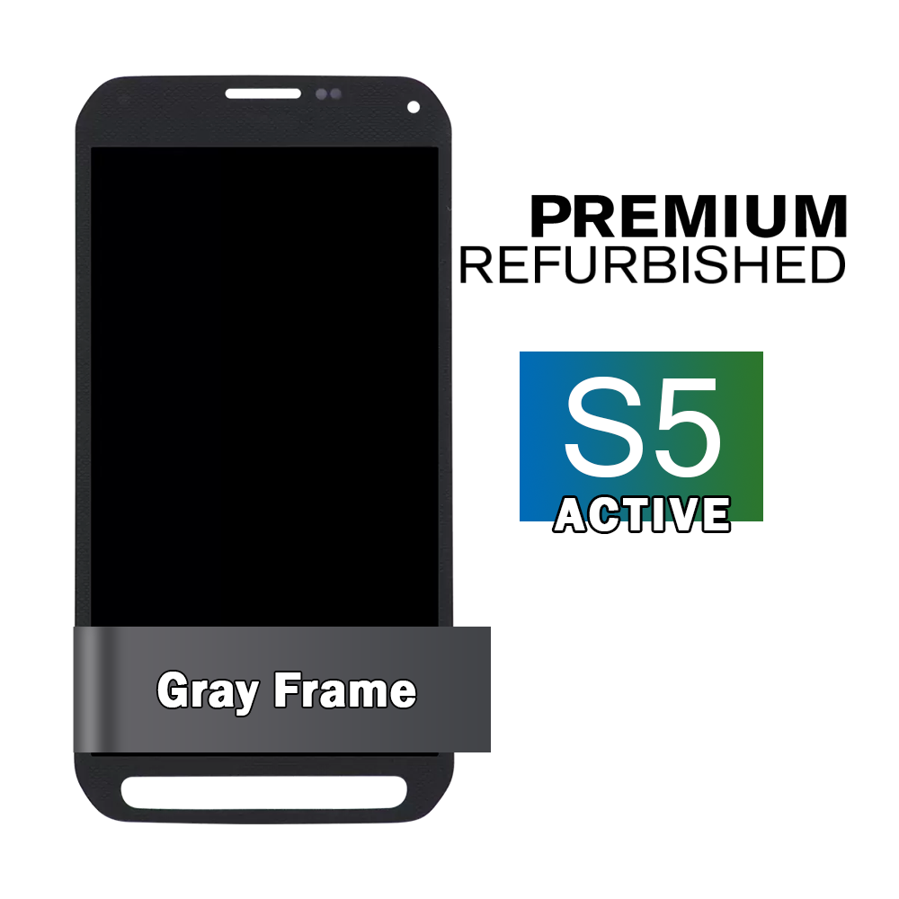 Samsung Galaxy S5 Active Gray Display Assembly (LCD and Touch Screen)