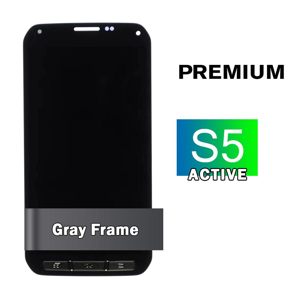 Samsung Galaxy S5 Active Gray Display Assembly