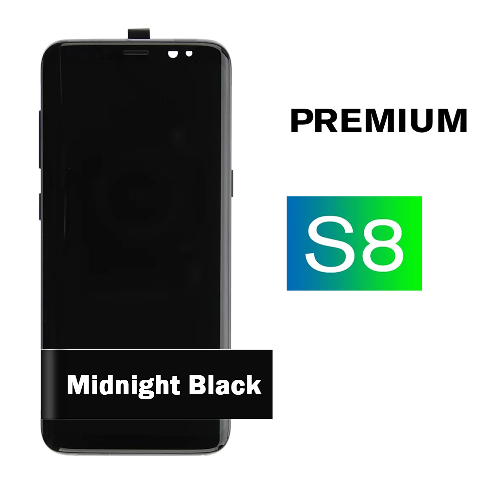 Samsung Galaxy S8 Midnight Black Display Assembly with Frame