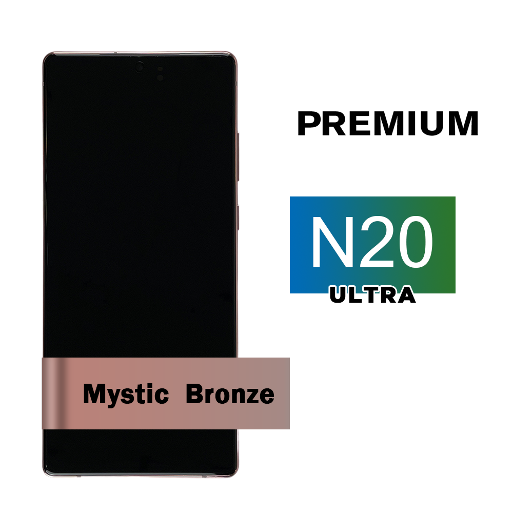 Samsung Galaxy Note 20 Ultra Screen Assembly with Frame - Mystic Bronze (Premium)