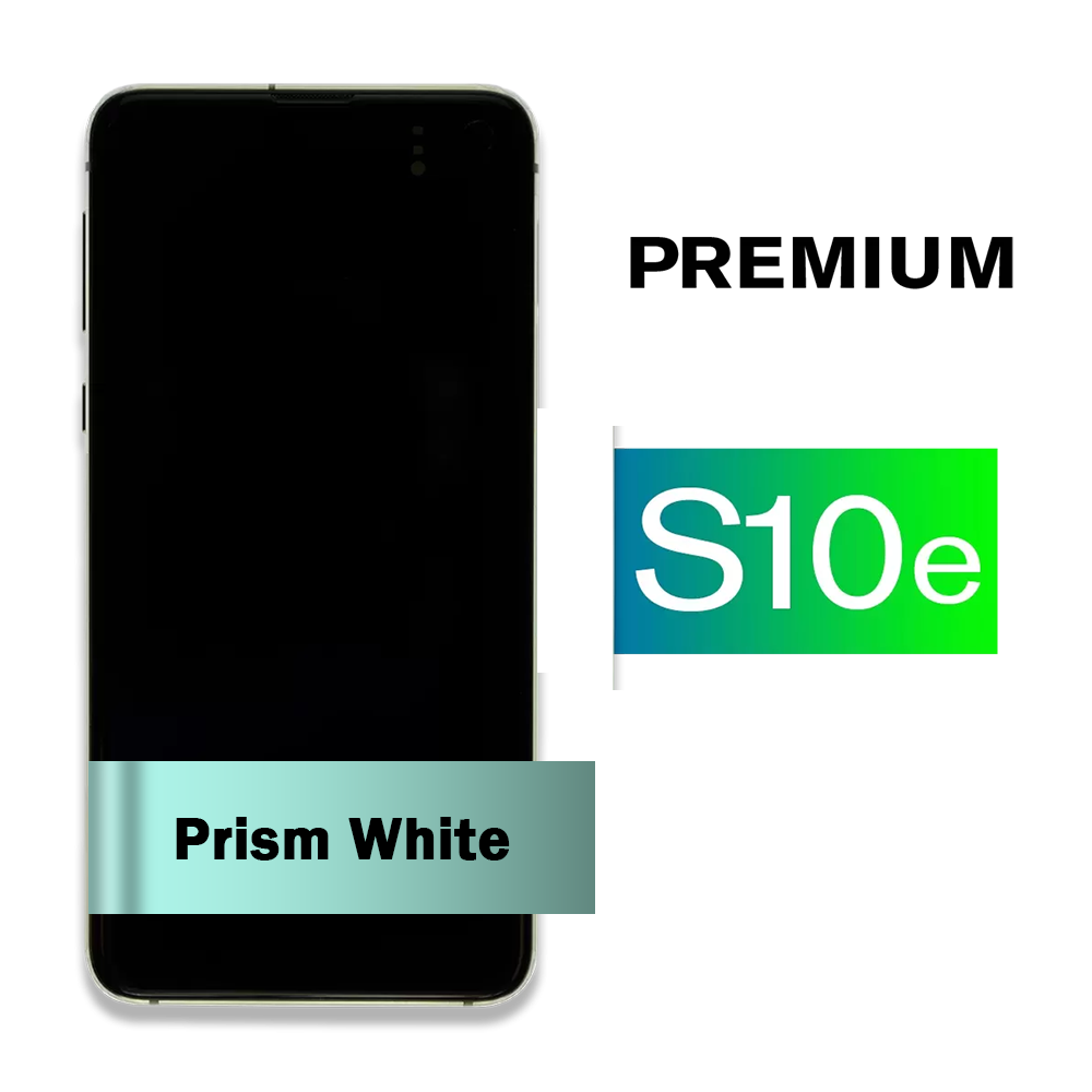 Samsung Galaxy S10e Screen Assembly with Frame - Prism White (Premium)