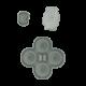 Nintendo Switch Joy Con Controller Conductive D-Pad Rubber Button Set (Right) (6 Pieces)