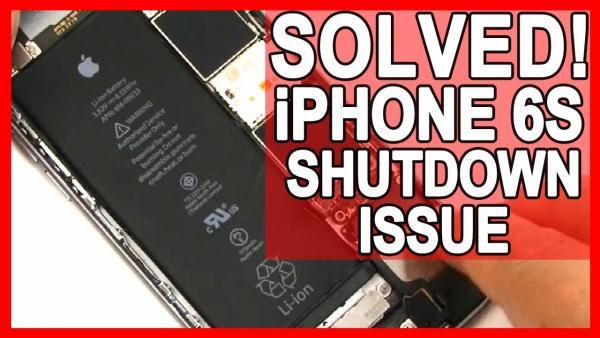 iPhone 6S Unexpected Shutdown and Randomly Turns Off - Solved Shutdown Gate
